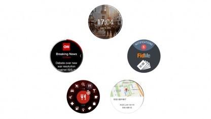 Einige erste Beispiele, wie Apps auf der neuen runden Samsung-Smartwatch aussehen