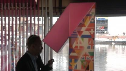 Auf einem Magenta-Eins-Telekom-Event in Berlin