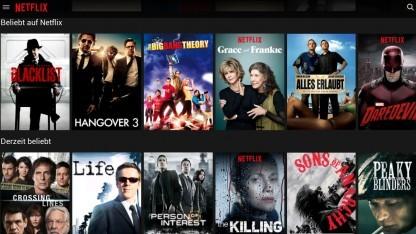 Das Design und das Bedienkonzept der Netflix-App kommt bald in den Browser.