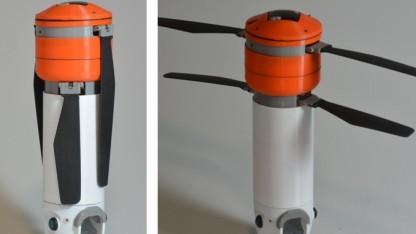 Die Sprite-Kameradrohne verfügt über zwei einklappbare Rotoren,