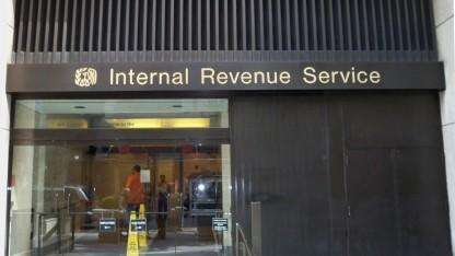 Das Bürogebäude des IRS in New York
