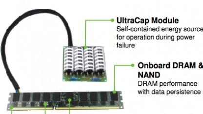 Neuer Hybridspeicher in der Variante NVDIMM-N mit Stützkondensator
