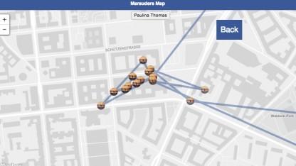 Erstellt Bewegungsprofile von Facebook-Nutzern: Marauder's Map