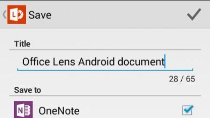 Office Lens für Android ist da.