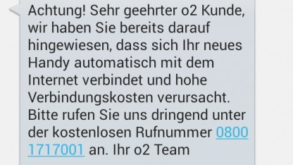 SMS des Netzbetreibers