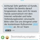 SMS: O2 warnt Handy-Kunden vor automatischem Internetzugriff