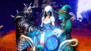 Der Ritter Pontius, die Diebin Zoya, der Zauberer Amadeus und das namensgebende Trine-Artefakt