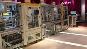 Industrie-4.0-Vorführanlage des DFKI (auf der Hannover Messe 2015): Interesse in den letzten Monaten stark gestiegen