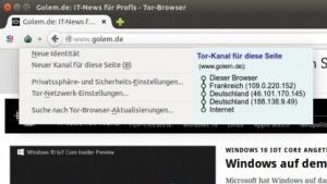 Der neue Tor-Browser ermöglicht dem Nutzer größere Kontrolle im Tor-Netzwerk.