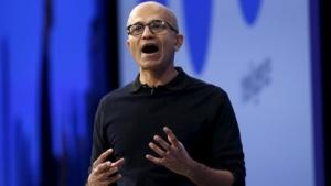 Microsoft-Chef Satya Nadella auf der Build 2015