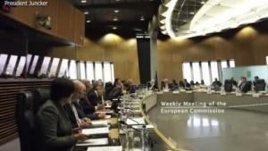 Die Sitzung der EU-Kommsion