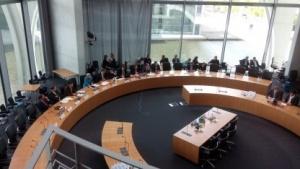 Der NSA-Ausschuss vor Beginn einer öffentlichen Zeugenvernehmung