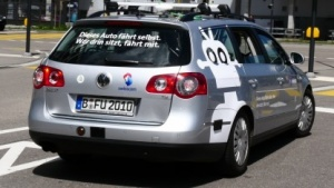 Swisscom testet das autonome Auto der FU Berlin in Zürich.