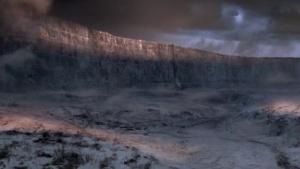 Die Mauer von Süden her betrachtet
