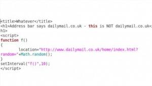 Mit wenigen Zeilen Javascript kann im Safari-Browser eine gefälscte Webseite mit einer legitimen Webadresse anzeigen.