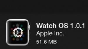 WatchOS 1.0.1 ist da