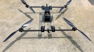 Prototyp des Hycopter noch mit durchsichtigen Tanks