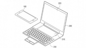 Samsungs Patent zeigt ein Laptop-Dock für Smartphones.