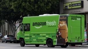 Amazon-Fresh-Lieferwagen in Los Angeles