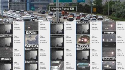 Gescannte Nummernschilder von automatischen Kameras - ungeschützt im Netz abrufbar