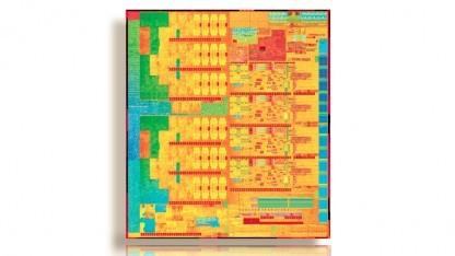 Die-Shot eines Broadwell-H mit vier Kernen und Iris Pro Graphics