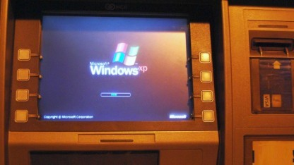 Geldautomat mit Windows XP