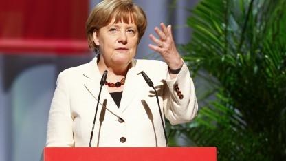 Bundeskanzlerin Angela Merkel auf dem Evangelischen Kirchentag in Stuttgart
