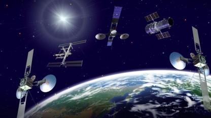 Kommunikationssatelliten, ISS und Hubble (Symbolbild): Datenaufkommen von einem Zettabyte pro Monat