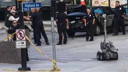 Einsatz eines Roboters bei einem falschen Bombenalarm in den USA