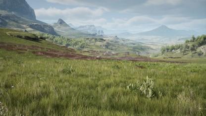 Landschaft mit neuer Gras-Darstellung