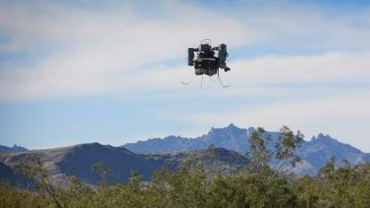 Drohne über der Mojave-Wüste