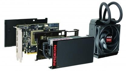 Radeon R9 Fury X mit AiO-Wasserkühlung.