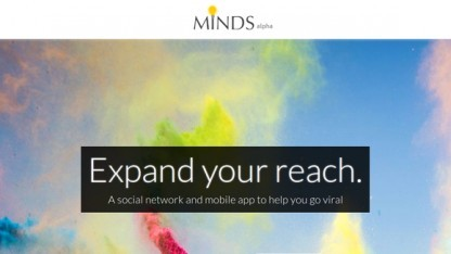 Screenshot der Website von Minds