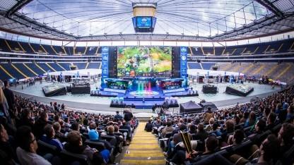 In der Commerzbank-Arena wurde wieder Dota 2 gespielt.