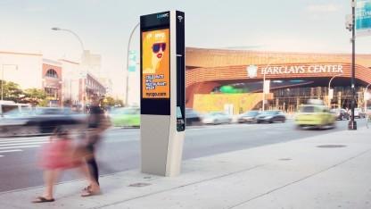 Die LinkNYC-Stelen sollen New York mit kostenlosem WLAN versorgen.