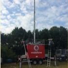 Festivals: Vodafone errichtet mobile Basisstationen mit Teleskopmasten