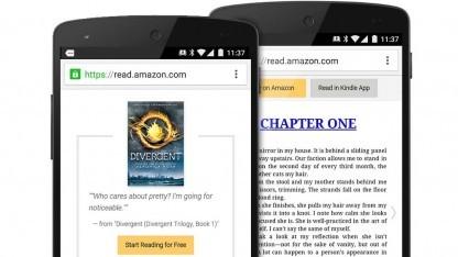 Über die Kindle-App für Android können jetzt auch Leseproben verschickt werden.