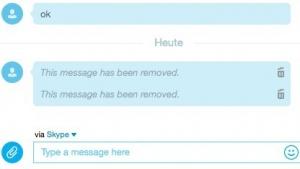 Skype löscht bestimmte Zeichenketten nach dem Versand aus der Historie.