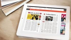 Die App des Onlinedienstes Blendle auf einem iPad