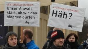 Demonstration gegen das Leistungsschutzrecht in Berlin am 1. März 2013