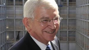 Der damalige BND-Chef Ernst Uhrlau beim Richtfest der BND-Zentrale im Jahr 2010.