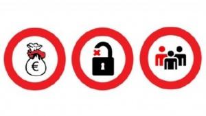 Solche Piktogramme könnten zukünftig die Zustimmung zu Datenschutzbestimmungen vereinfachen.