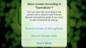 Replaykit in einer App