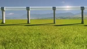 Geplantes Hyperloop-Röhrensystem