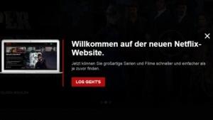 Neues Netflix-Design