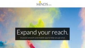 Screenshot der Website von Minds