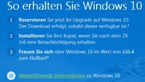 Upgrade-Hinweis zeigt den deutschen Preis.