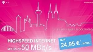 Werbung der Telekom in Köln