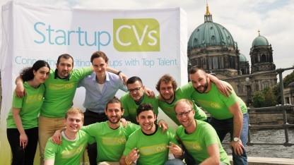 Das Team des Startups StartupCVs
