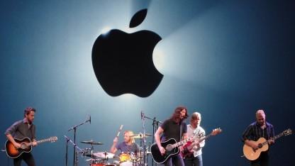 Die amerikanische Rockband Foo Fighters spielte bei der Vorstellung von Apple Music.